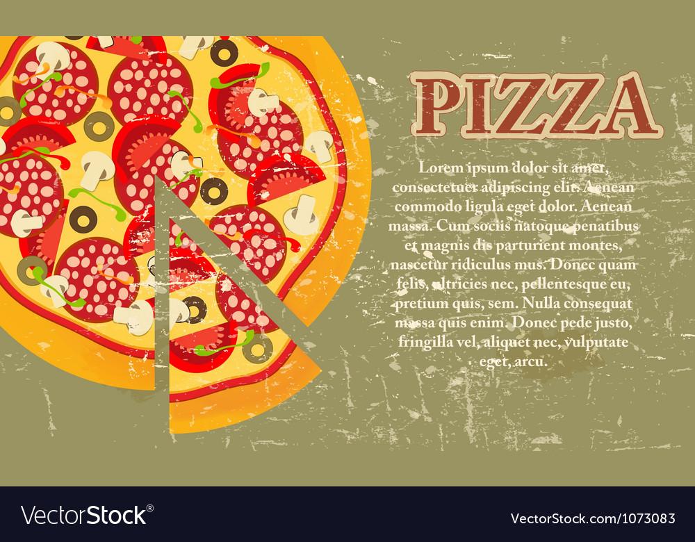 Retro pizza menu template vector   Price: 1 Credit (USD $1)
