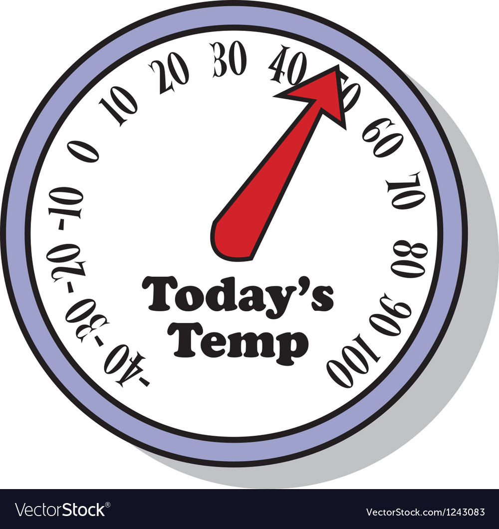 Todays temperature vector | Price: 1 Credit (USD $1)
