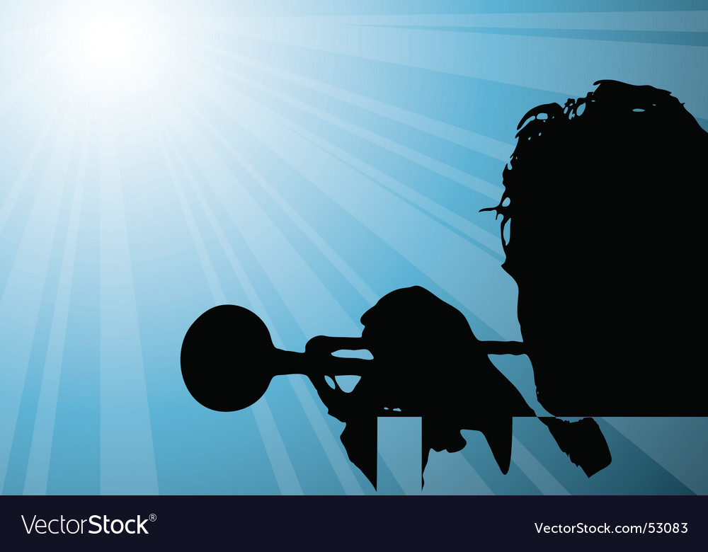 Trumpet player illustration vector | Price: 1 Credit (USD $1)