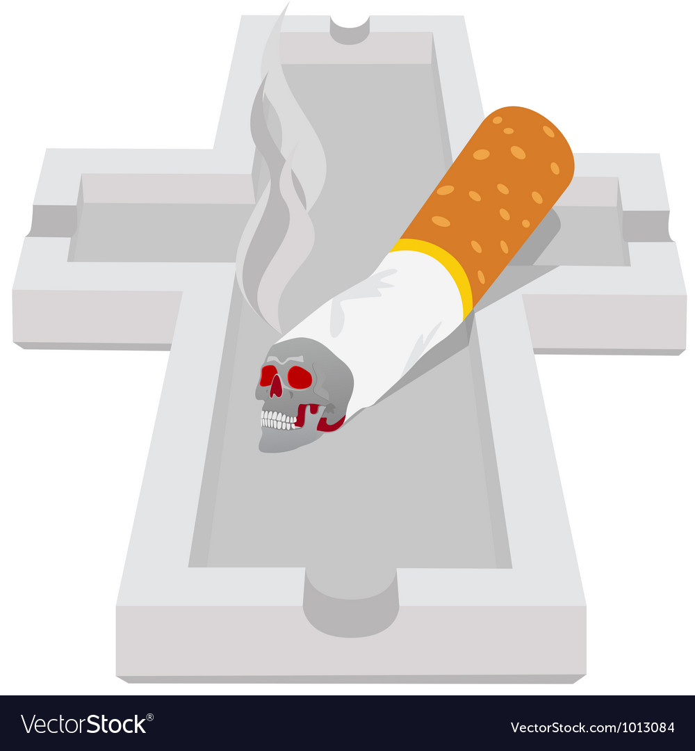 Ashtray with cigarette vector | Price: 1 Credit (USD $1)