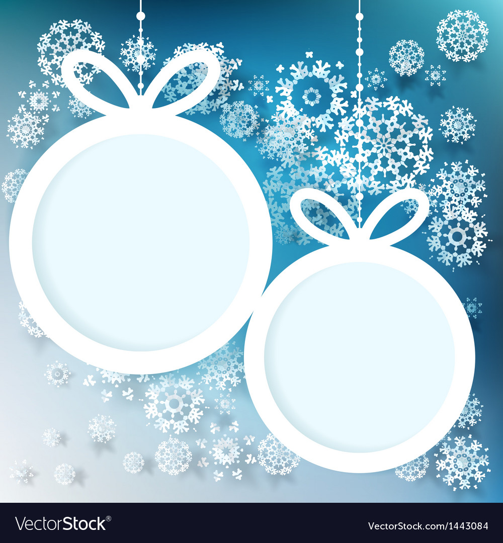 Blue and white winter with snowflakes eps 10 vector | Price: 1 Credit (USD $1)