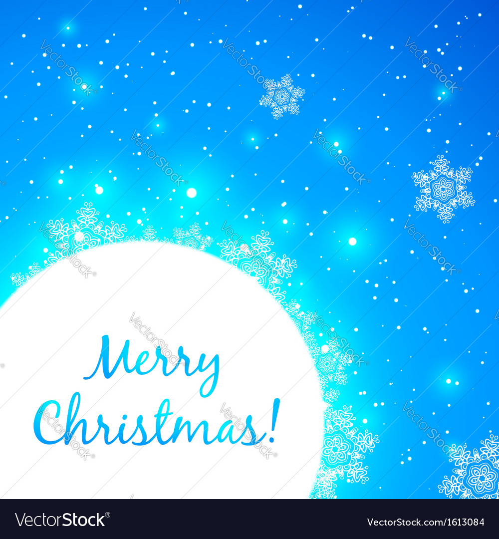 Blue shining christmas greeting card vector | Price: 1 Credit (USD $1)