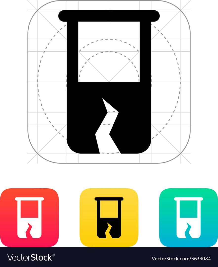 Broken test tube icon vector | Price: 1 Credit (USD $1)