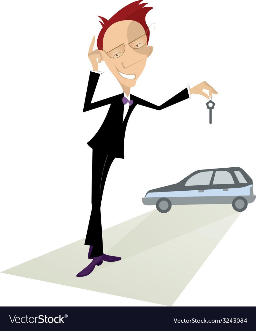 Car salesperson vector | Price: 1 Credit (USD $1)