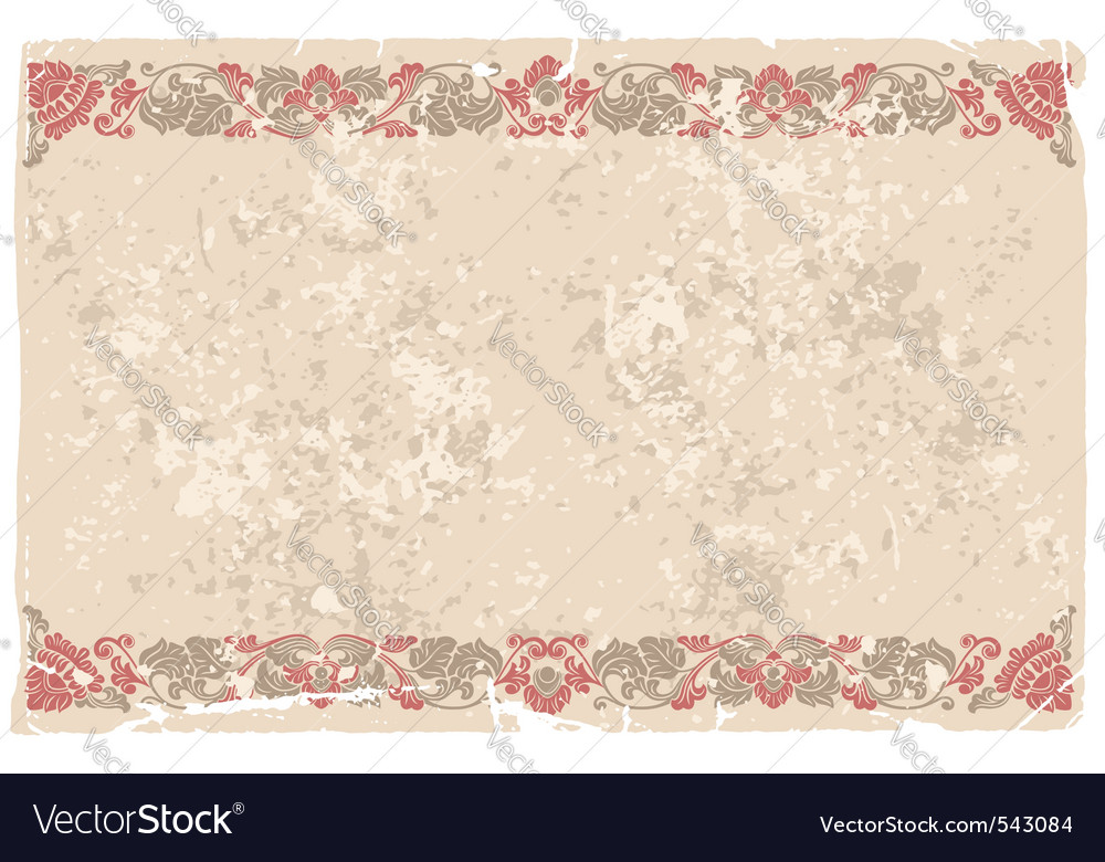 Card design with vintage background vector | Price: 1 Credit (USD $1)