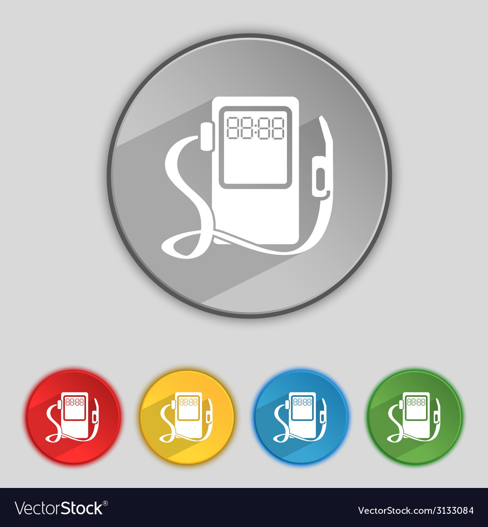 Gas fuel station sign icon symbol set of colored vector   Price: 1 Credit (USD $1)