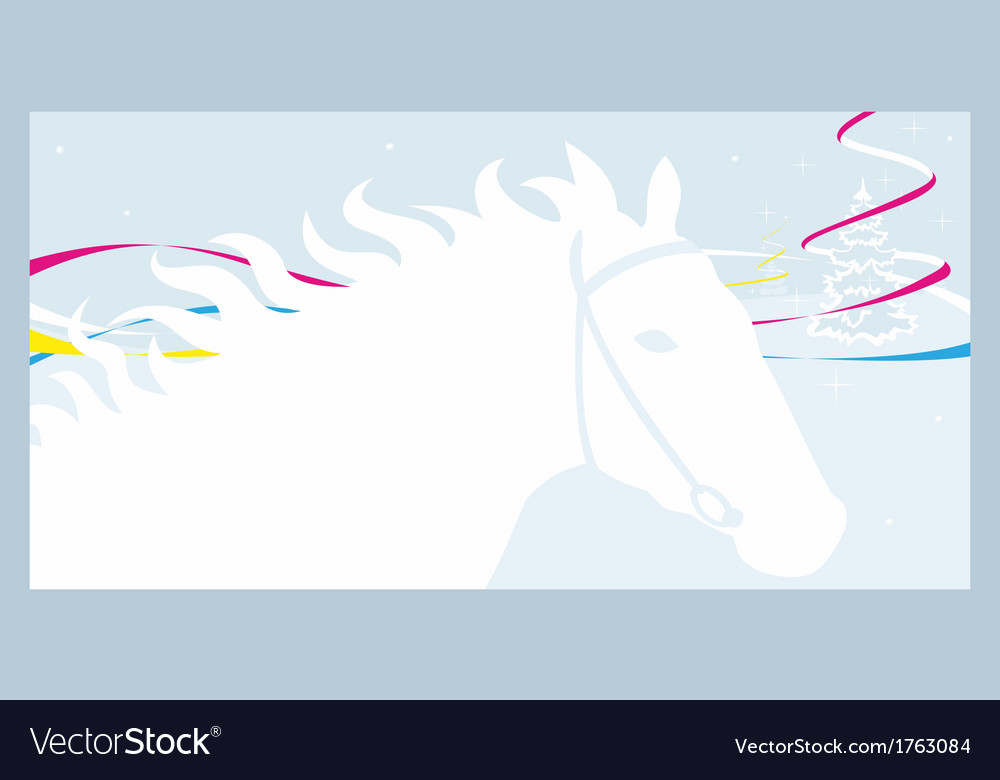 Horse and winter vector   Price: 1 Credit (USD $1)