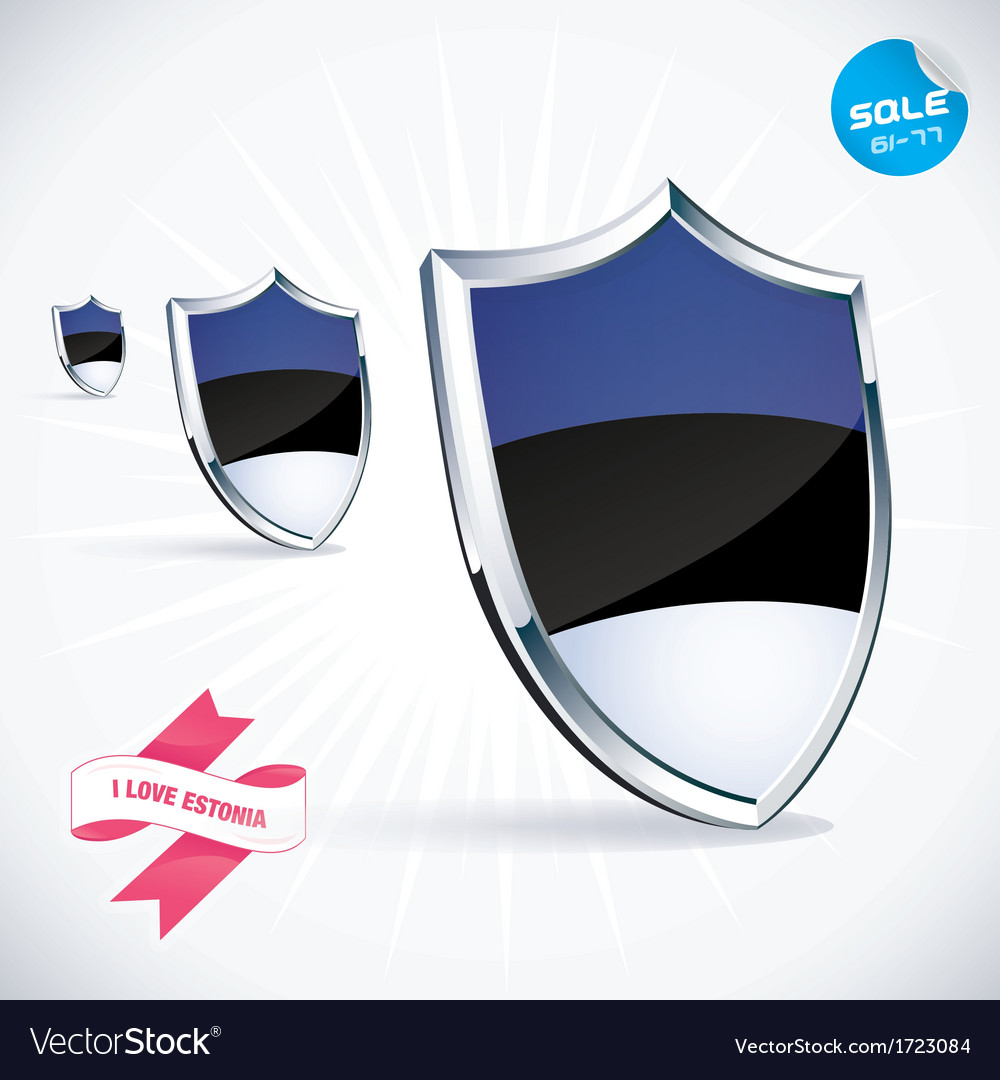 I love estonia flag vector | Price: 1 Credit (USD $1)