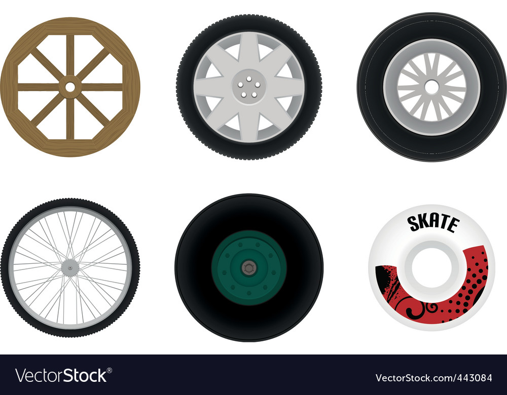 Set of different wheels vector | Price: 1 Credit (USD $1)