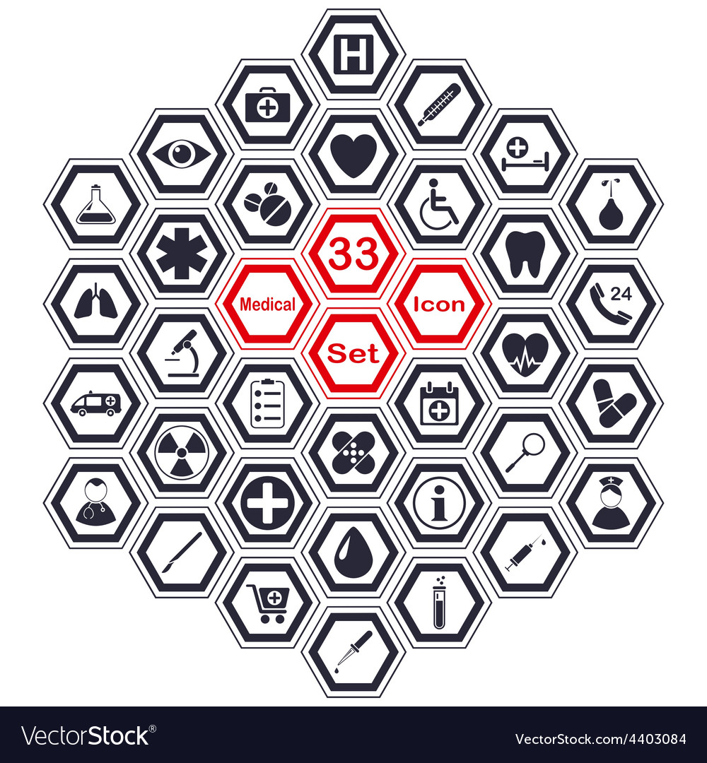 Set of polygon medical icons vector | Price: 1 Credit (USD $1)