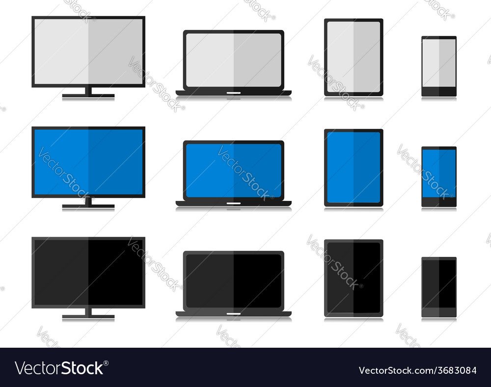 Technology electronics set vector | Price: 1 Credit (USD $1)
