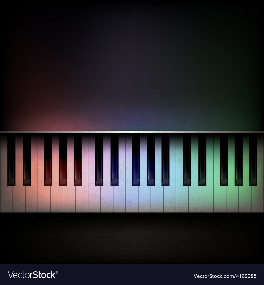 Abstract grunge dark music background with piano vector | Price: 3 Credit (USD $3)
