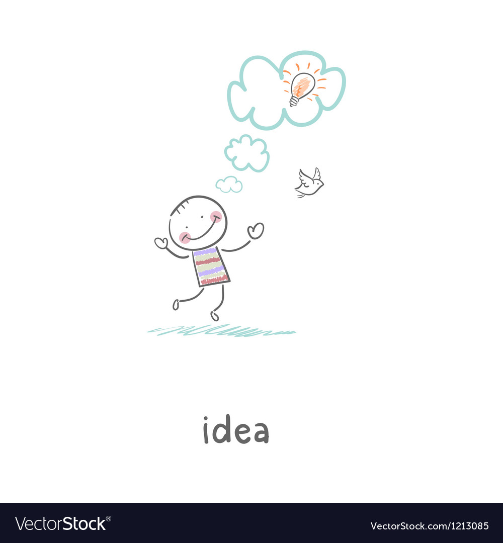 The birth of an idea vector | Price: 1 Credit (USD $1)