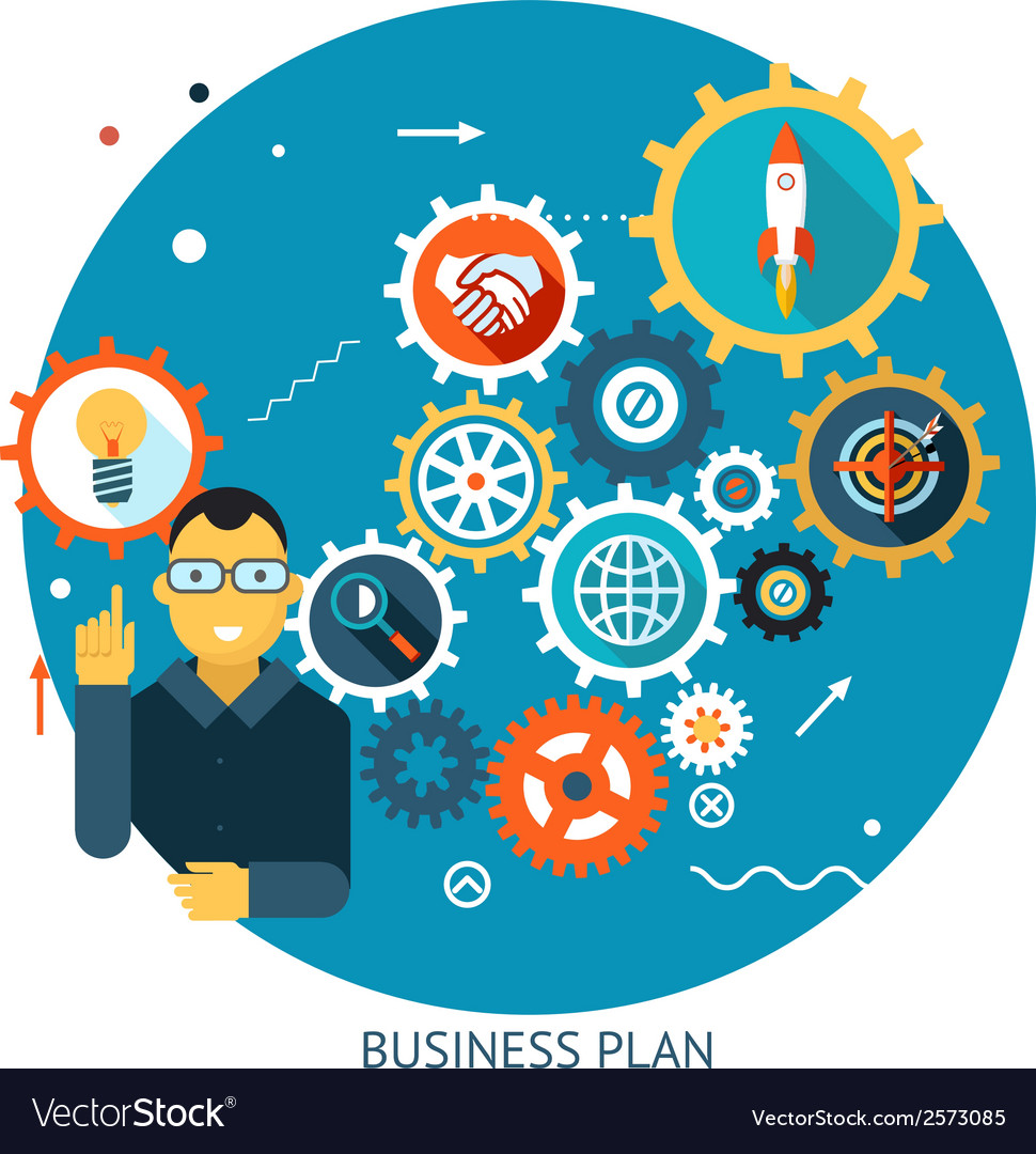 Businessman describes successful strategy plan vector | Price: 1 Credit (USD $1)