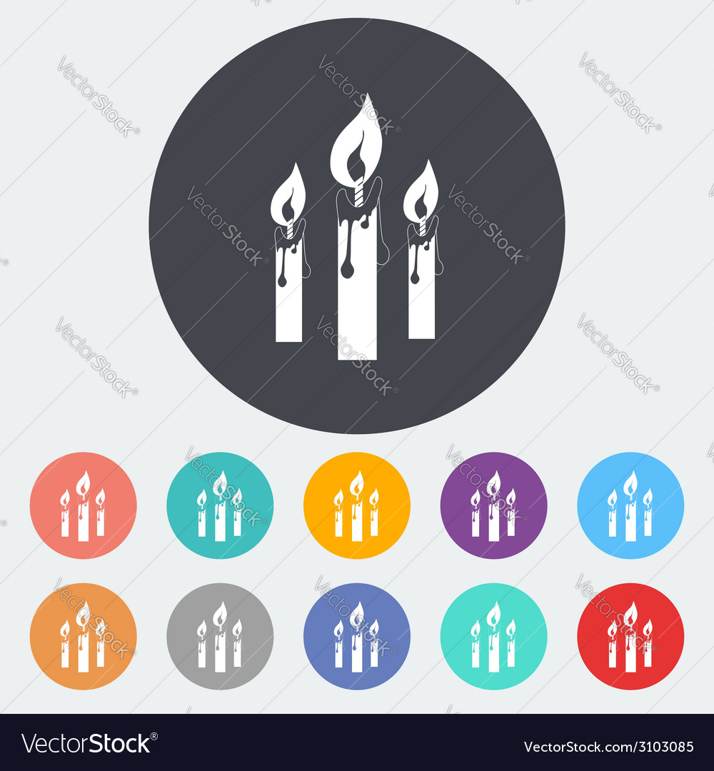Candles single icon vector | Price: 1 Credit (USD $1)