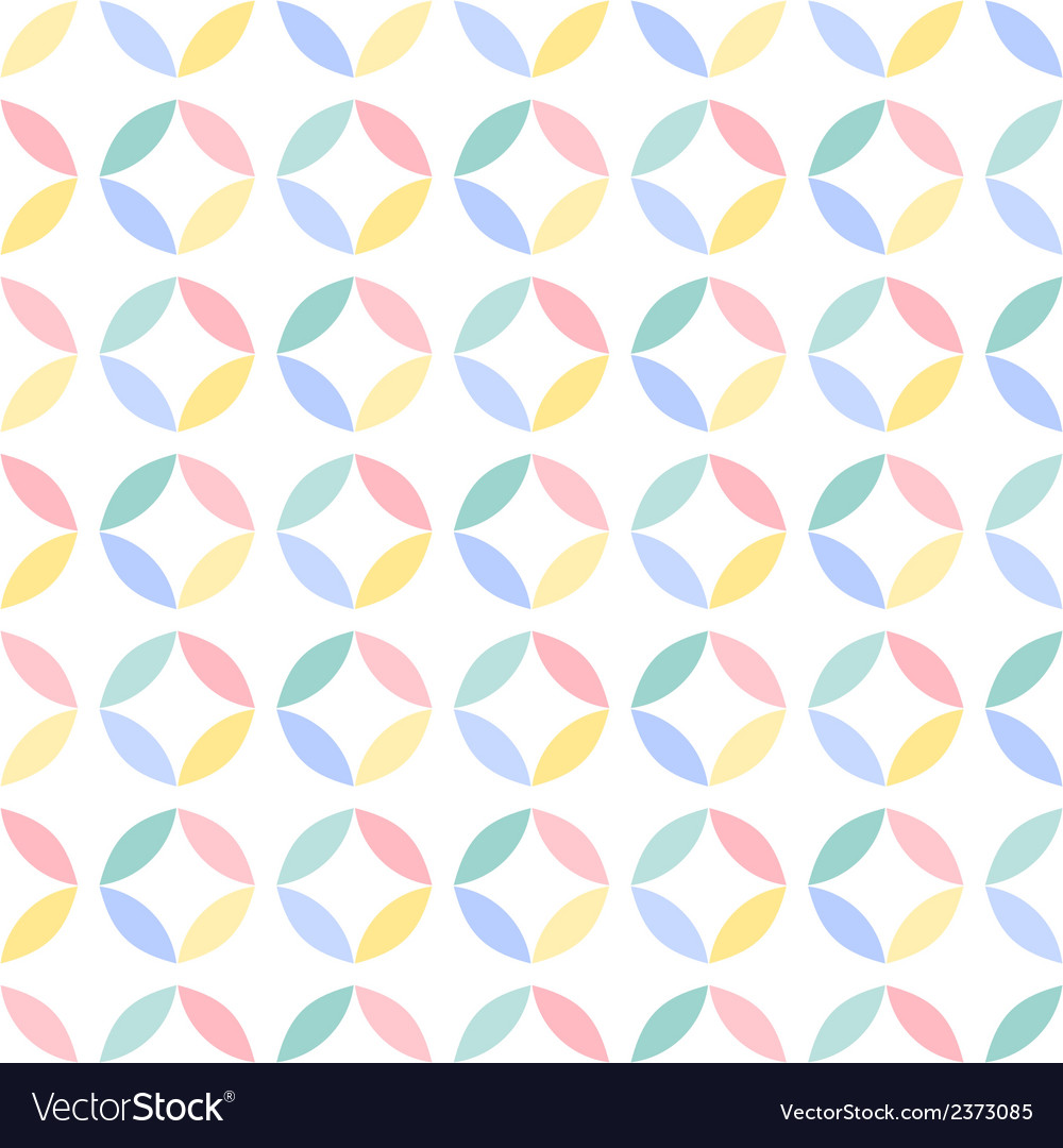 Colorful seamless geometric circle pattern vector | Price: 1 Credit (USD $1)