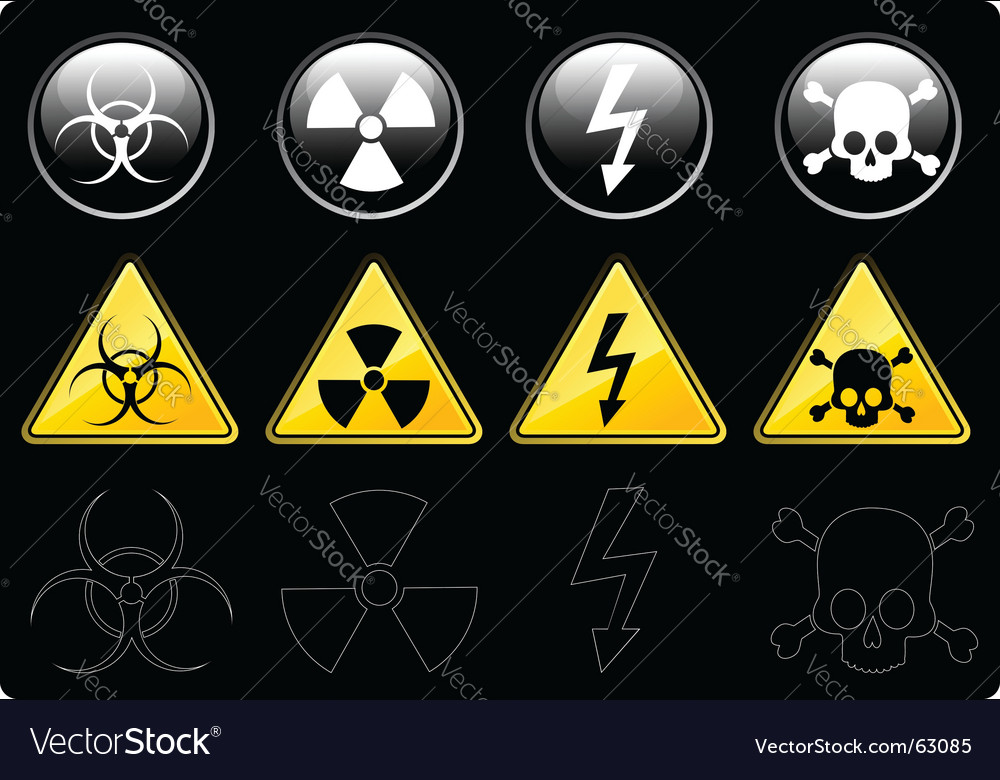 Danger signs vector | Price: 1 Credit (USD $1)