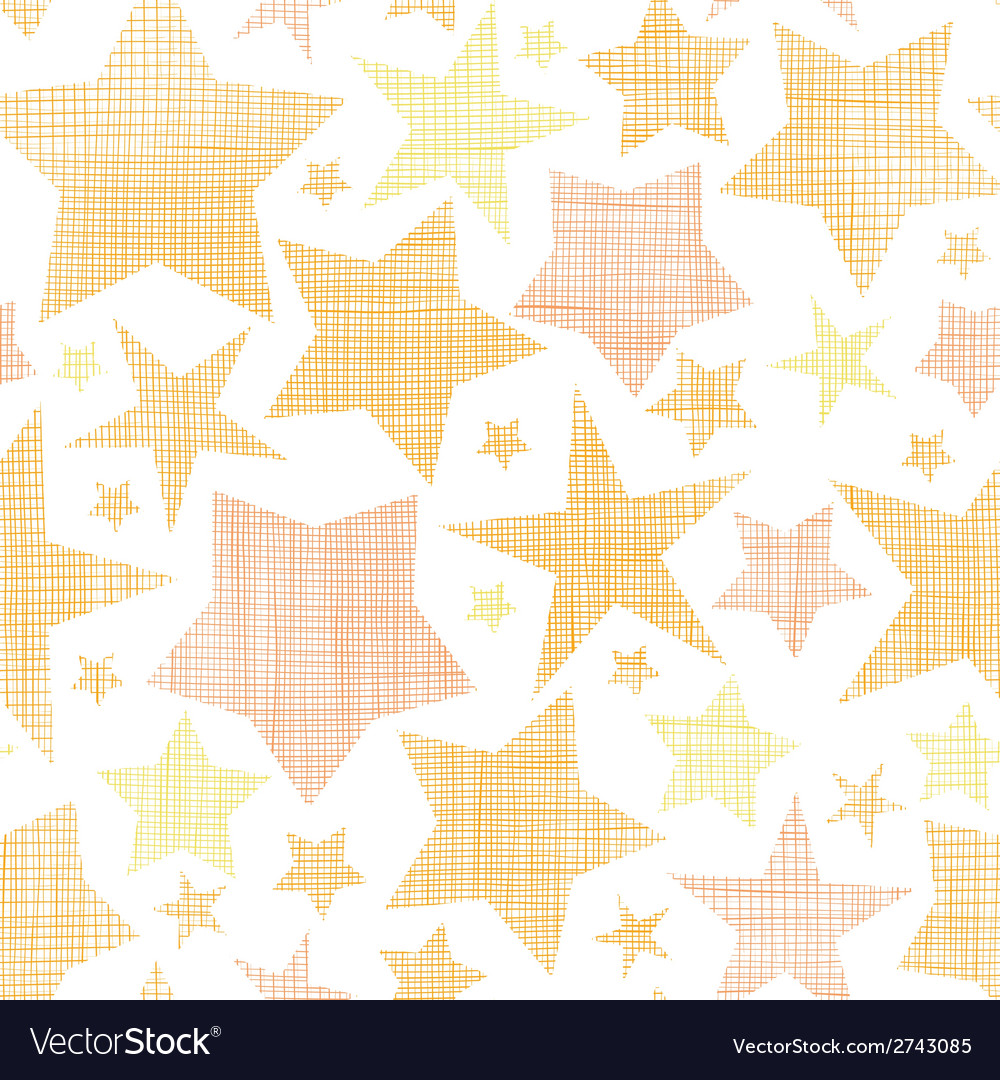 Golden stars textile textured seamless pattern vector | Price: 1 Credit (USD $1)
