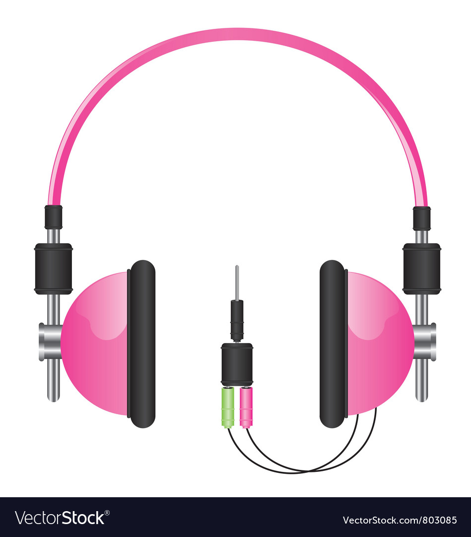 Headphones pink vector | Price: 3 Credit (USD $3)