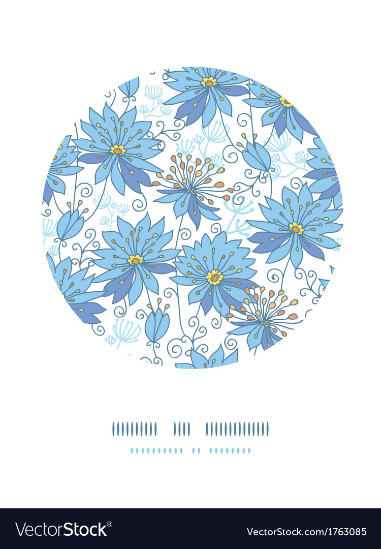 Heavenly flowers circle decor pattern background vector | Price: 1 Credit (USD $1)