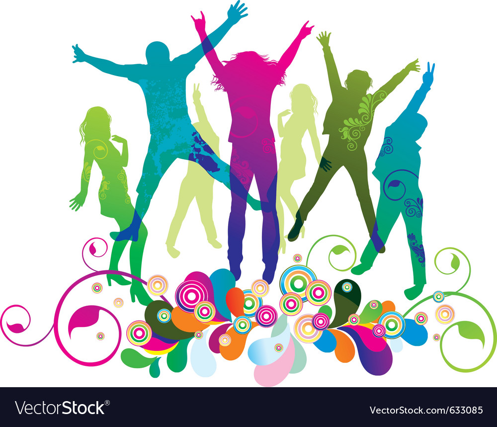 Party and dance vector | Price: 1 Credit (USD $1)