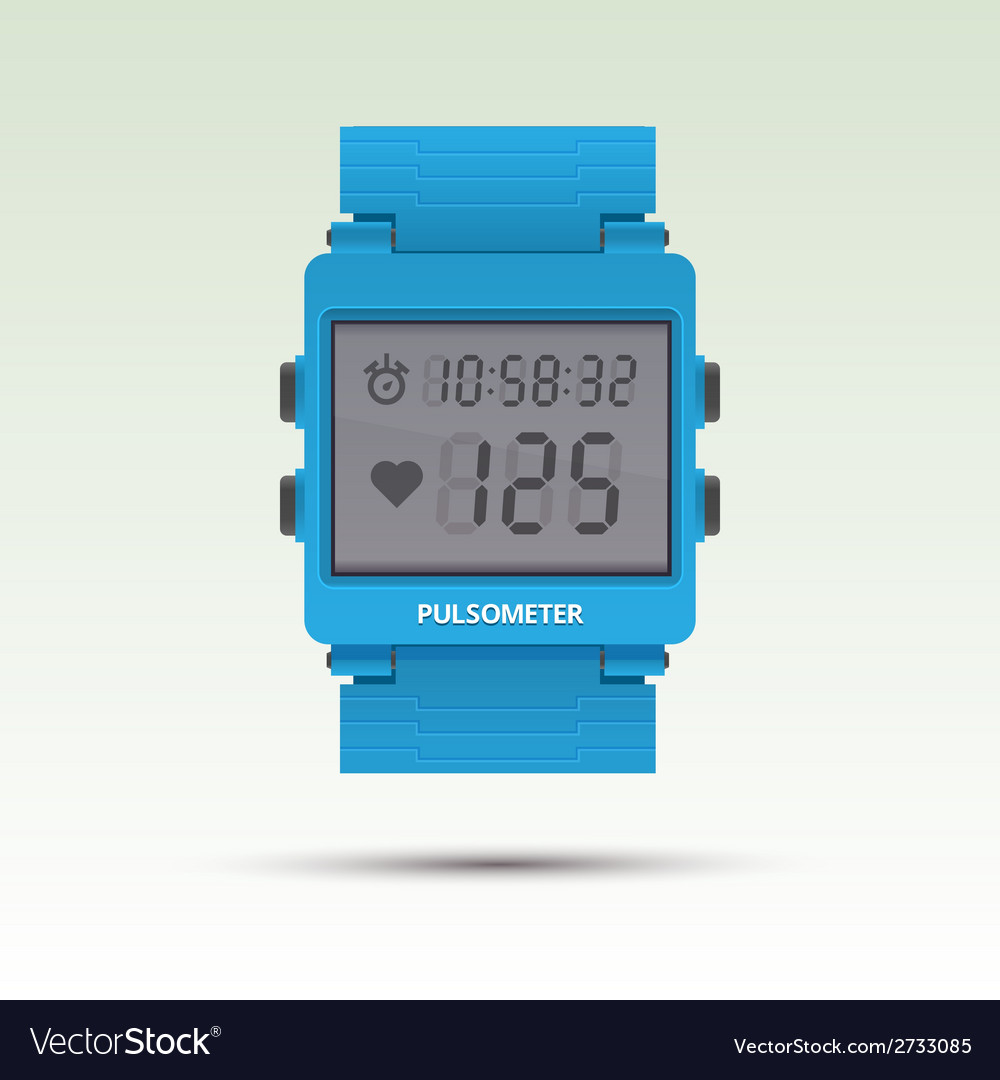 Pulsometer of heart beat rate monitor vector | Price: 1 Credit (USD $1)