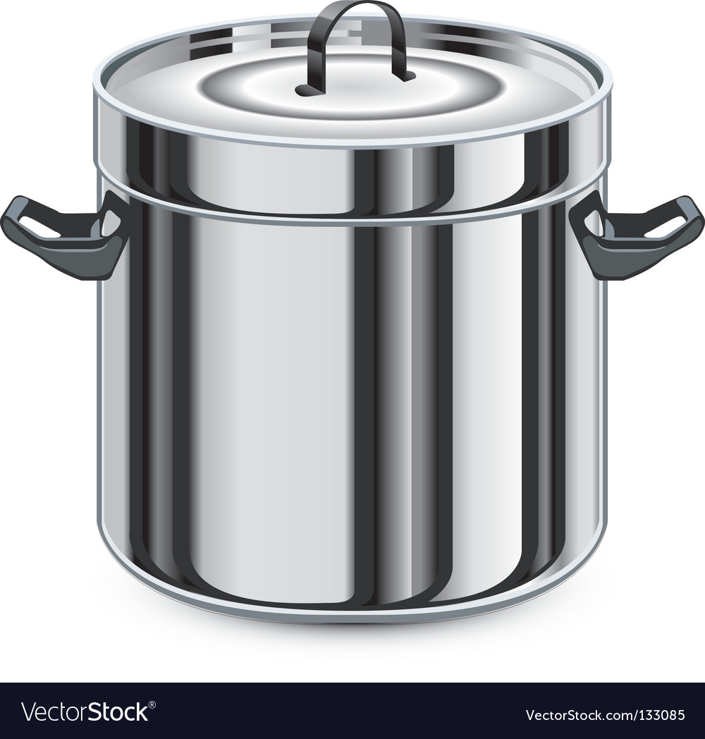 Silver pan vector | Price: 1 Credit (USD $1)