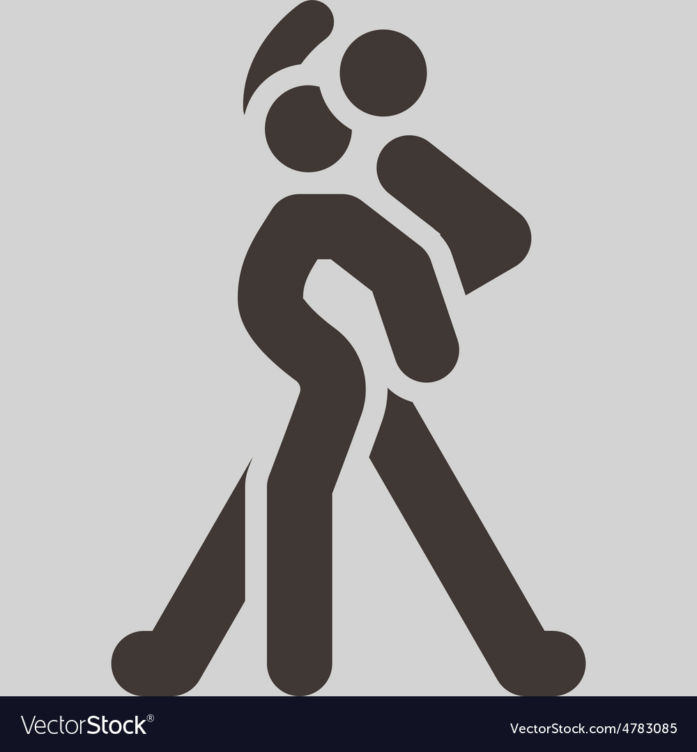 Sport dancing icon vector | Price: 1 Credit (USD $1)