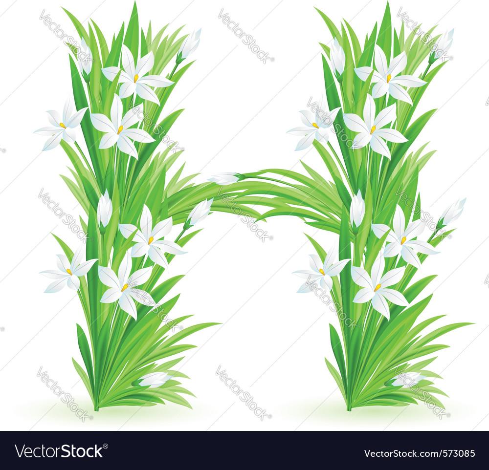 Spring flowers alphabet h vector   Price: 1 Credit (USD $1)