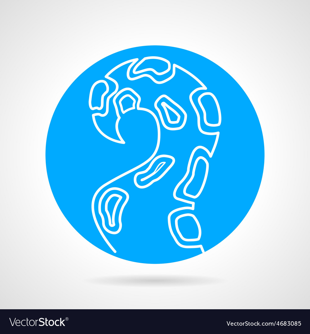 Tentacle blue round icon vector | Price: 1 Credit (USD $1)