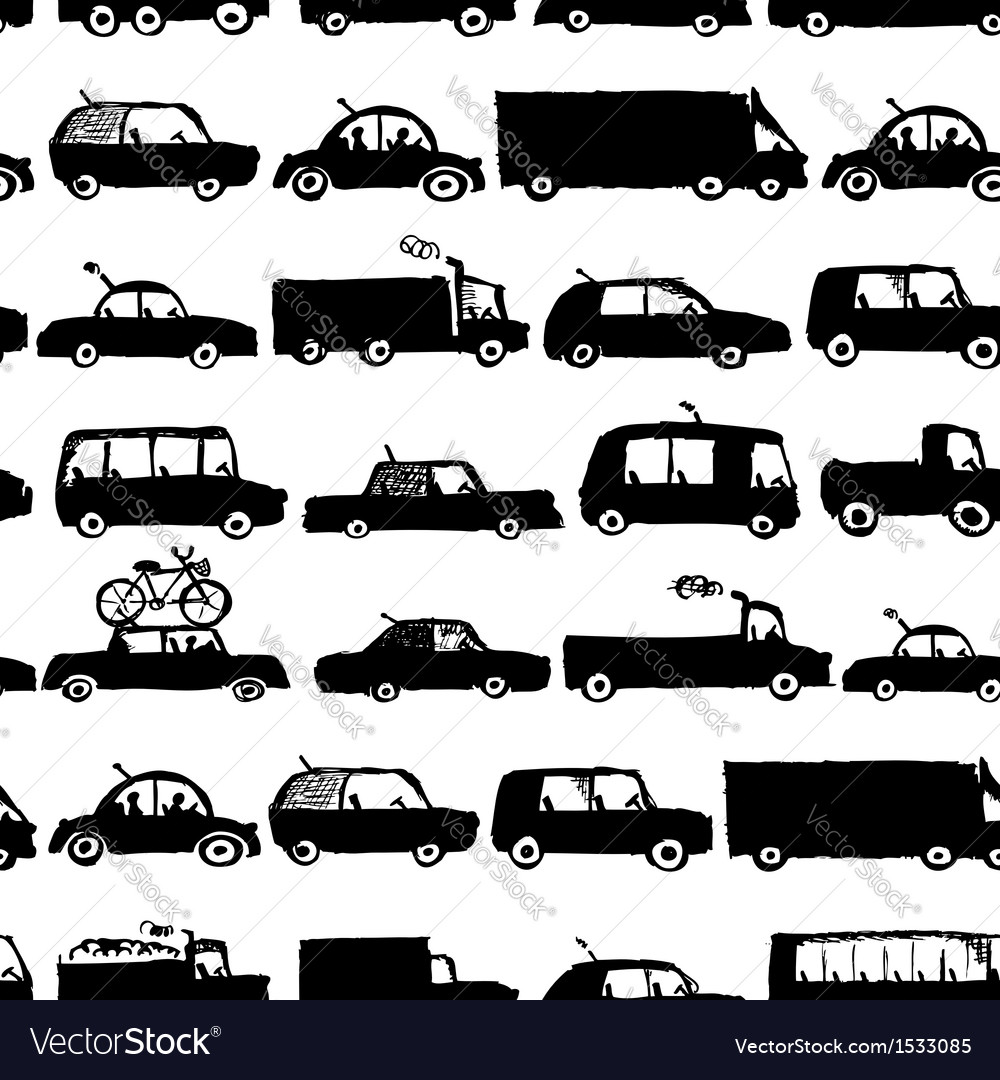 Toy cars collection seamless pattern for your vector | Price: 1 Credit (USD $1)