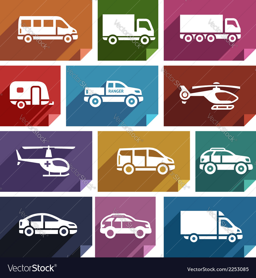 Transport flat icon-03 vector | Price: 1 Credit (USD $1)