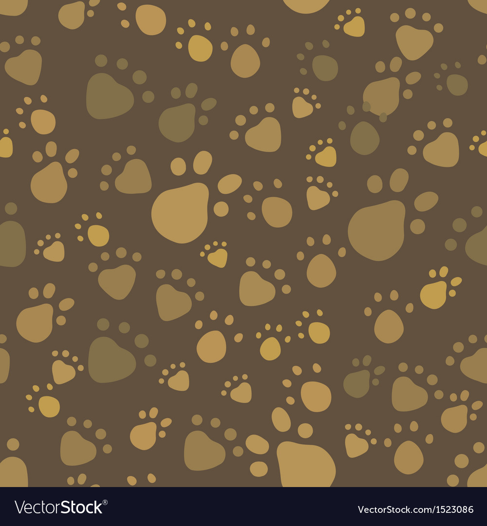 Brown vintage pet legs imprint seamless pattern vector | Price: 1 Credit (USD $1)