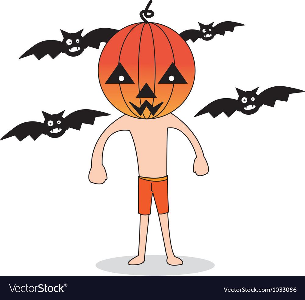 Cute halloween character pumpkin vector   Price: 1 Credit (USD $1)