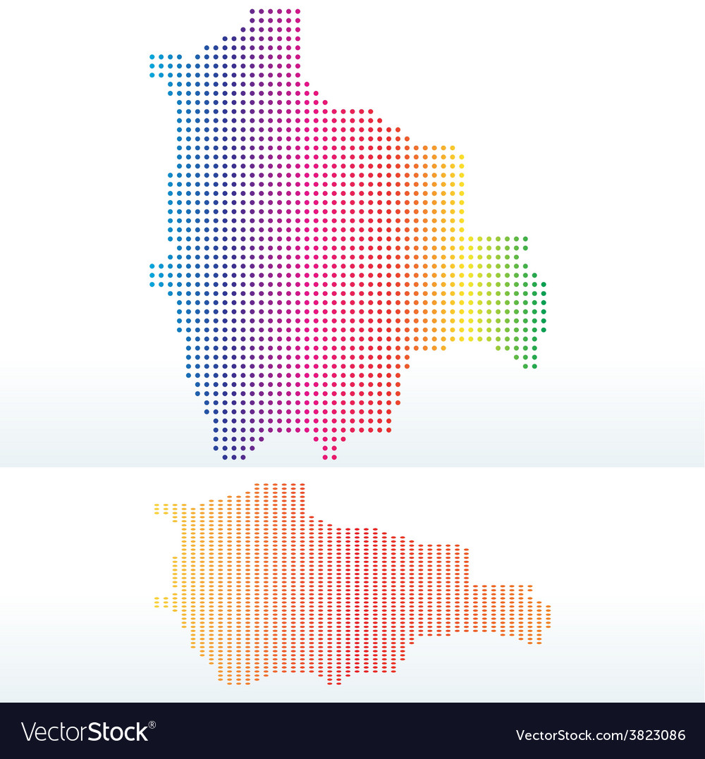 Map of plurinational state of bolivia with with vector | Price: 1 Credit (USD $1)