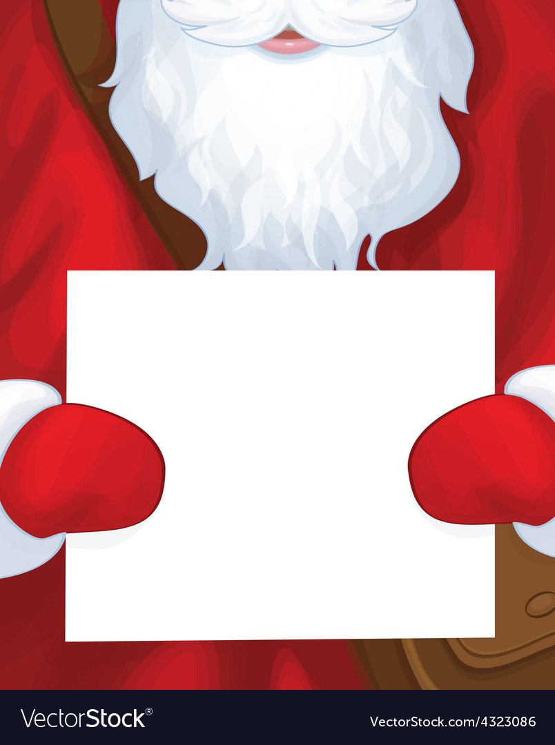 Santa postman blank vector | Price: 1 Credit (USD $1)