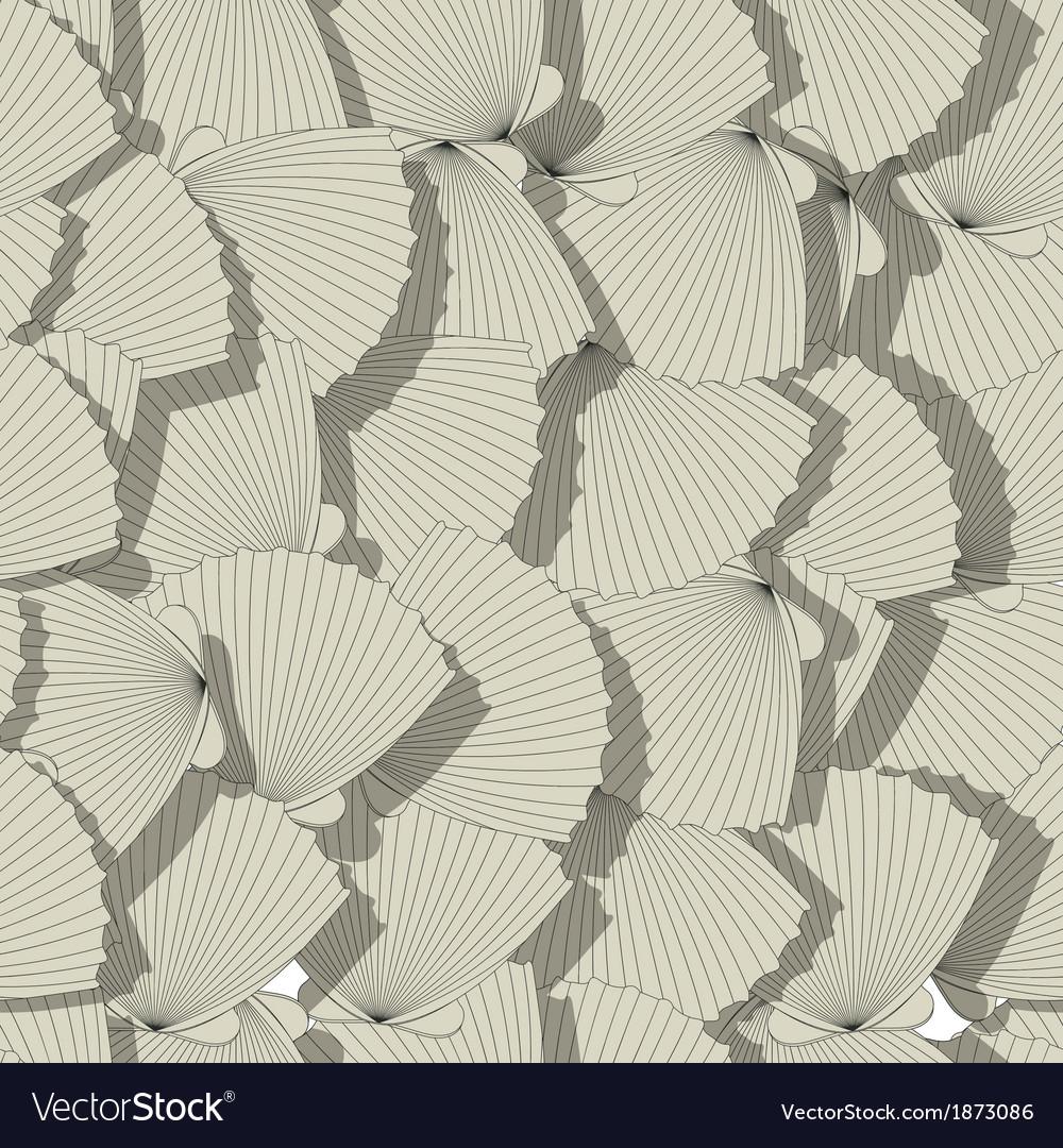 Sea shells pattern vector | Price: 1 Credit (USD $1)