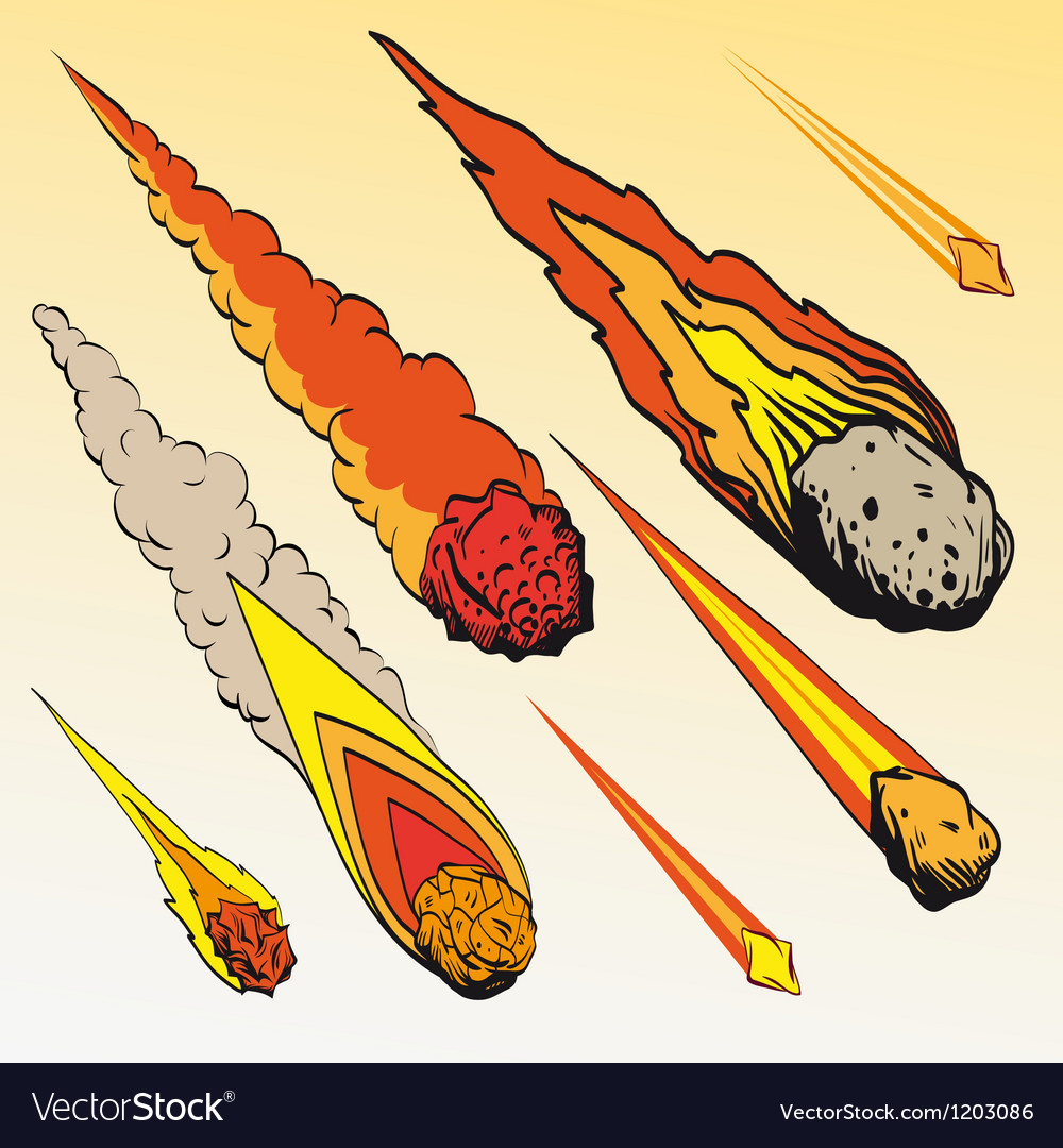 Set of meteorites vector | Price: 1 Credit (USD $1)