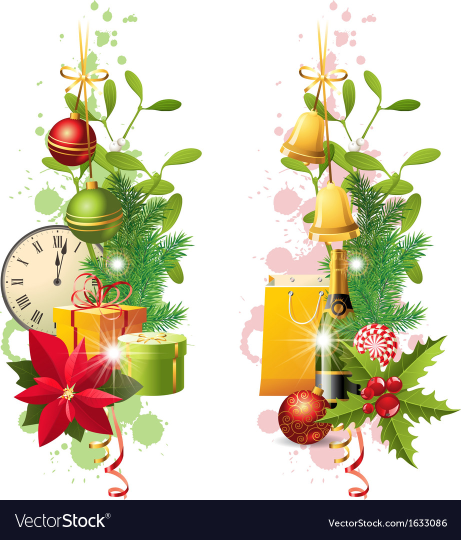 Vertical christmas banners vector | Price: 1 Credit (USD $1)