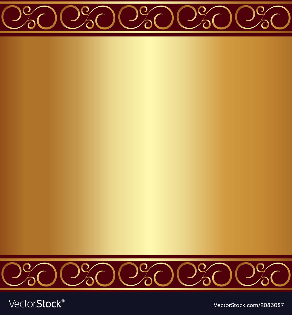 Abstract gold plate background with vignettes vector | Price: 1 Credit (USD $1)