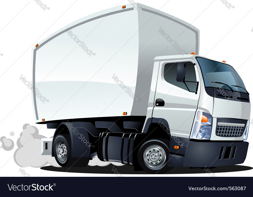 Cartoon delivery cargo truck vector | Price: 3 Credit (USD $3)