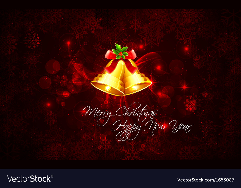 Christmas background with bell vector | Price: 1 Credit (USD $1)
