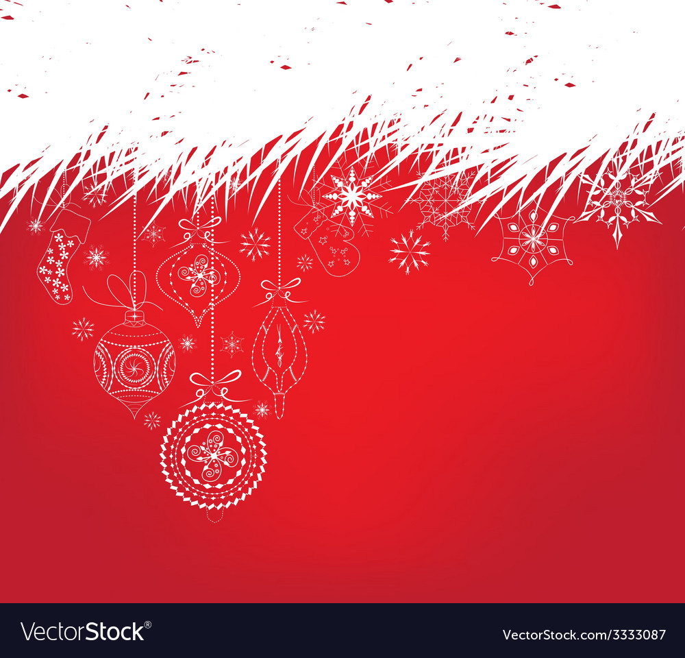 Christmas background with ornament snowflakes vector | Price: 1 Credit (USD $1)