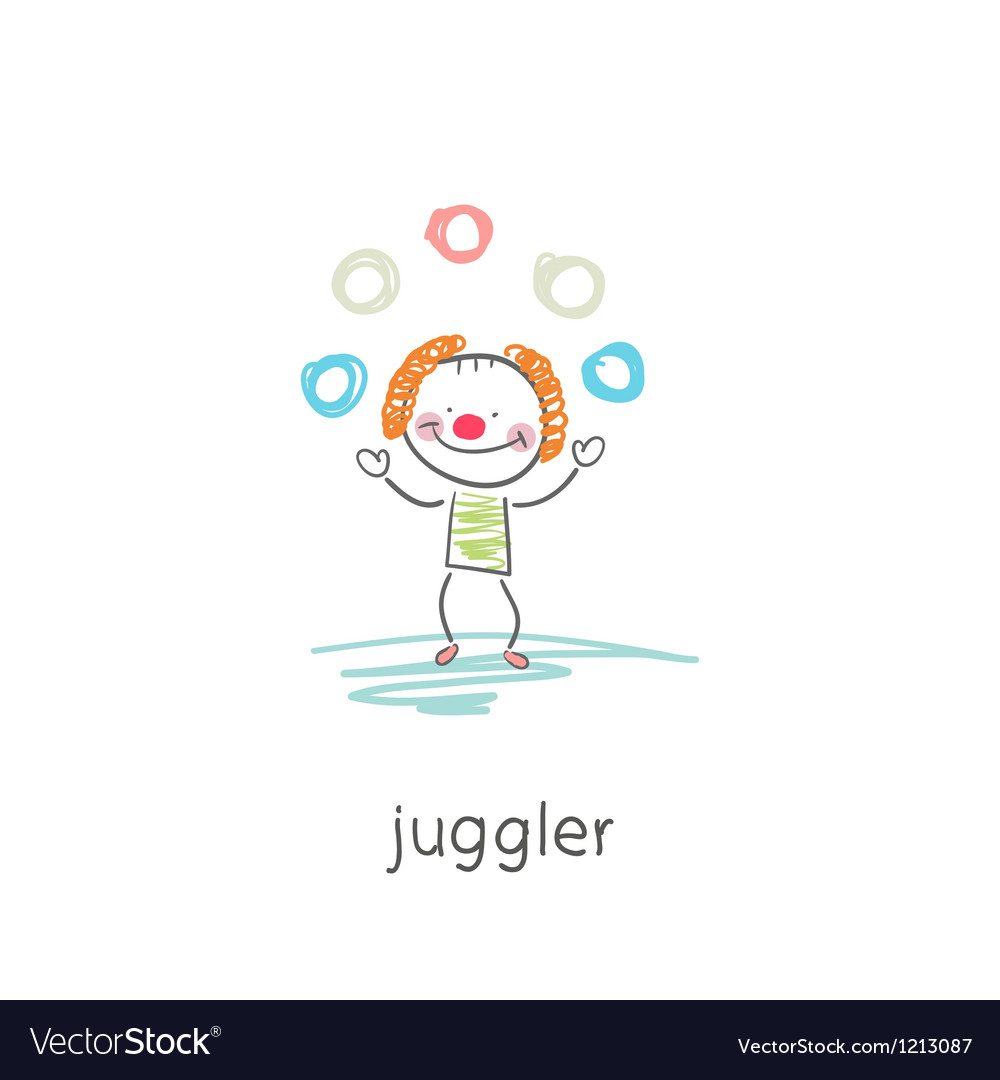 Clown juggler vector | Price: 1 Credit (USD $1)