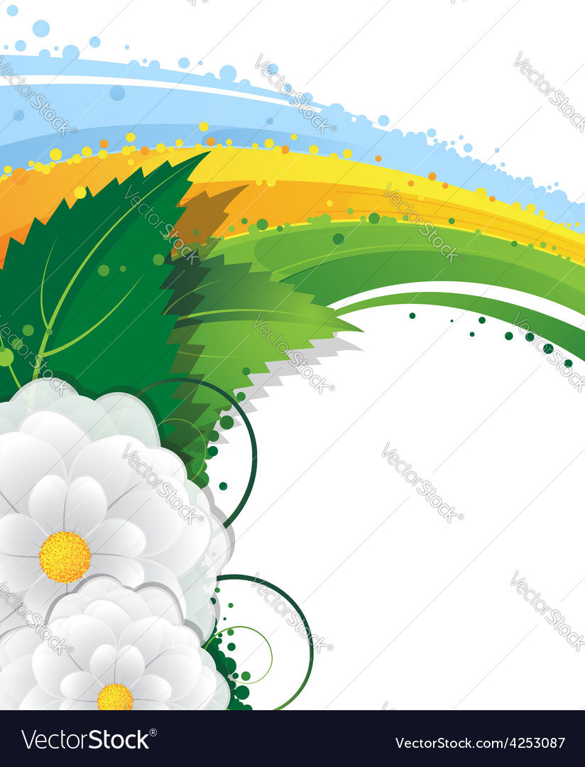 Flowers and rainbow vector | Price: 3 Credit (USD $3)