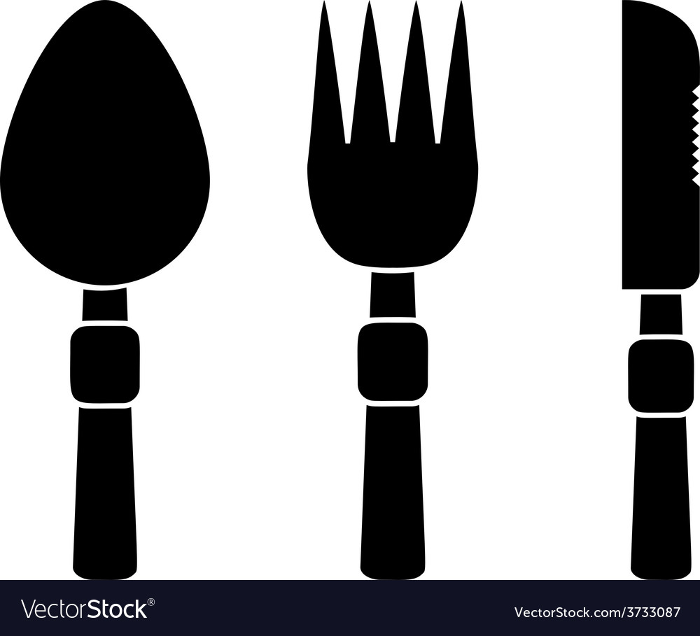 Fork spoon and knife icons vector | Price: 1 Credit (USD $1)