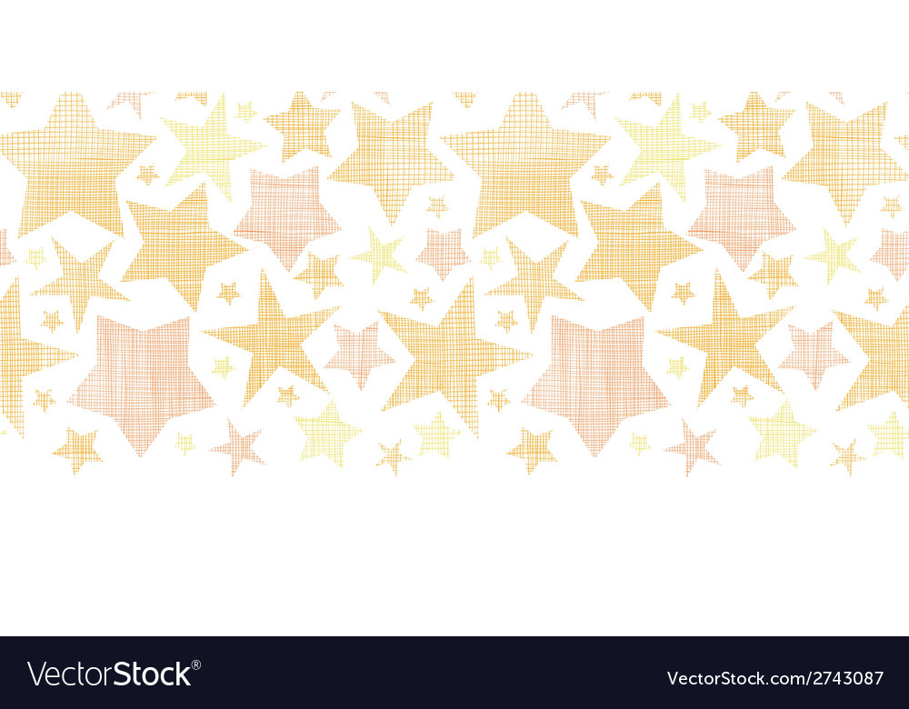 Golden stars textile textured horizontal seamless vector | Price: 1 Credit (USD $1)