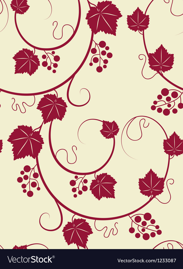 Grape vines green background vector | Price: 1 Credit (USD $1)