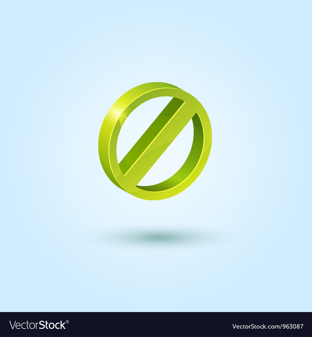 Green stop icon vector | Price: 1 Credit (USD $1)