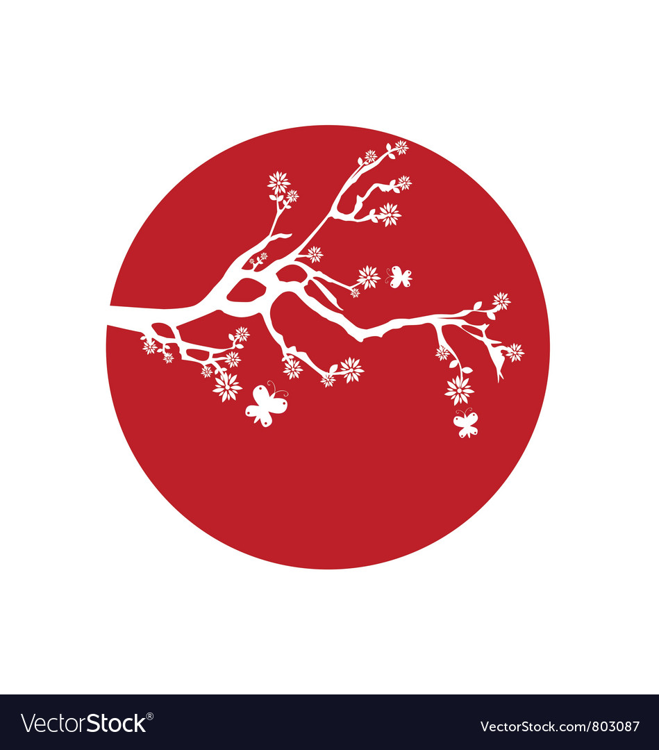 Japanese flag vector | Price: 1 Credit (USD $1)